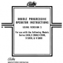 Bally Manual for Setting and Operating the Double Progressive Slots