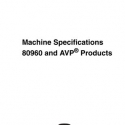 I.G.T. Game King Machine Specifications 80960 and AVP Products Manual