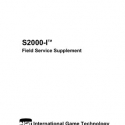I.G.T. S2000-I Field Service Supplement Manual