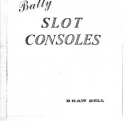 Bally Draw Bell Slot Console Parts Catalog