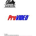 Bally ProVideo 5500 Setup and operation manual