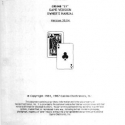CEI Casino Electronics Inc., Casino Video 21 Version 30.04 Owner's Manual