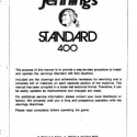 Jennings Standard Model 400 manual