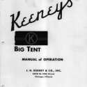 Keeney's, Big Tent Manual of Operation