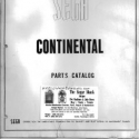 Sega Continental Parts Catalog
