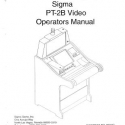 Sigma PT-2B Video Poker machine Operators manual
